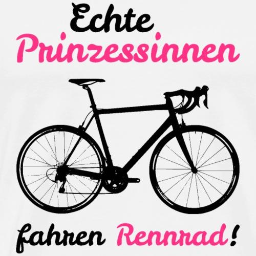 Echte Prinzessinnen fahren Rennrad - Männer Premium T-Shirt