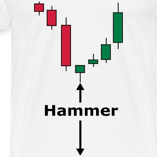 Candlestick Hammer - Männer Premium T-Shirt