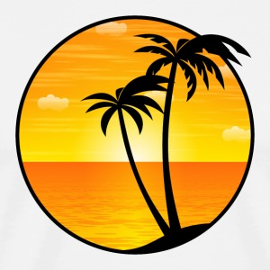 Palms Holiday Sea beach 03 Allround Designs - Mannen Premium T-shirt
