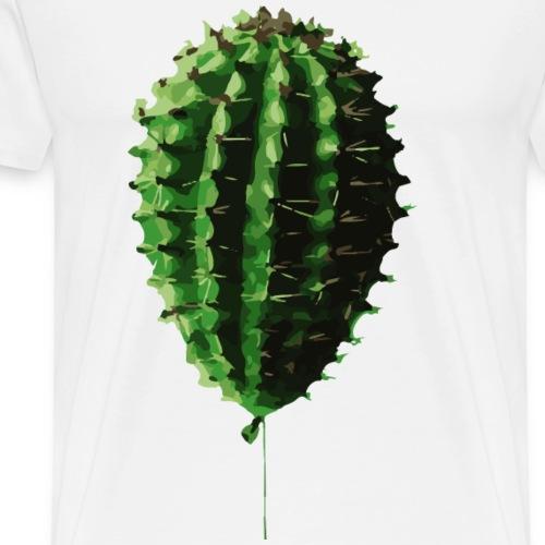 Kaktus Luftballon - Männer Premium T-Shirt