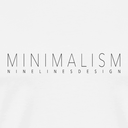 Minimalism - Männer Premium T-Shirt