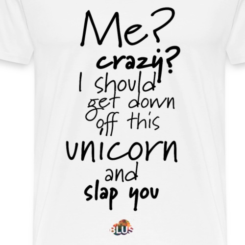 Crazy Unicorn Style (Dark) - Men's Premium T-Shirt
