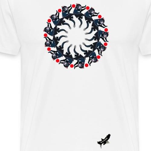 'Tasmanian Devil Mandala' by BlackenedMoonArts - Herre premium T-shirt