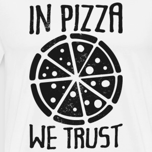 In Pizza we trust - funny - Men's Premium T-Shirt