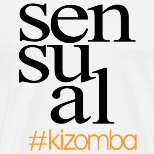 Sensual #kizomba Hashtag black/grey - Männer Premium T-Shirt