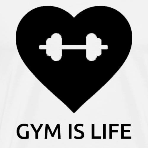 GymIsLife B - Men's Premium T-Shirt