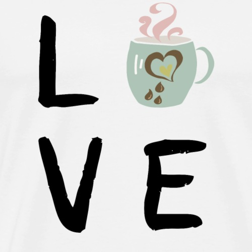 COFFEE LOVE MUG - Männer Premium T-Shirt
