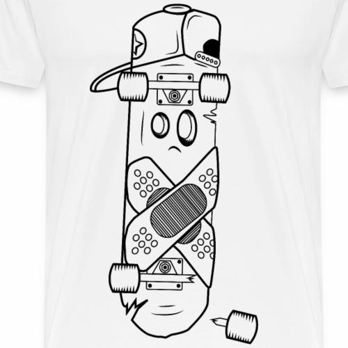 Sk8etittude Broken Skateboard - Männer Premium T-Shirt