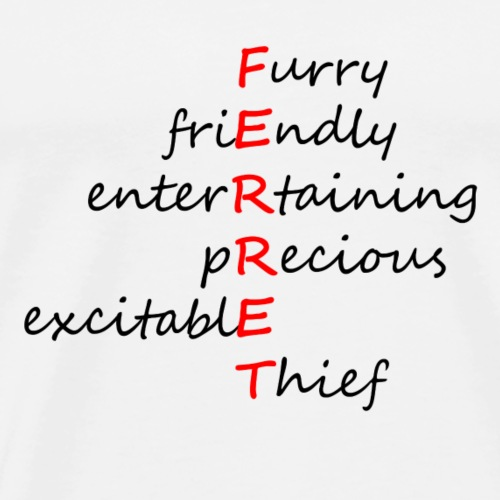 Ferret Acrostic - Men's Premium T-Shirt