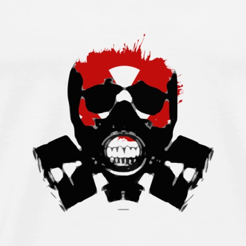 Isolatet Gasmaske - Männer Premium T-Shirt