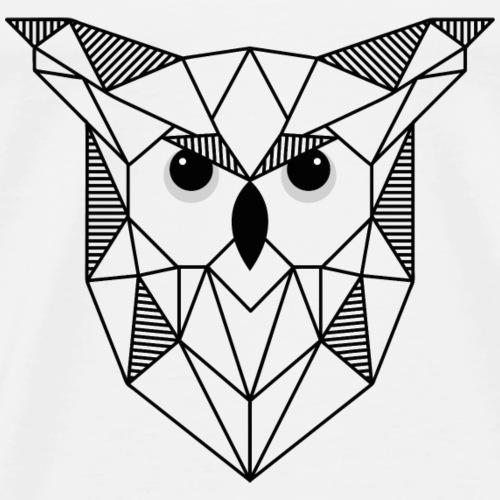 Hibou géométrique - T-shirt Premium Homme
