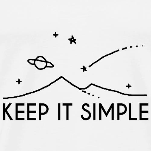 Keep it simple Zeichnung - Männer Premium T-Shirt