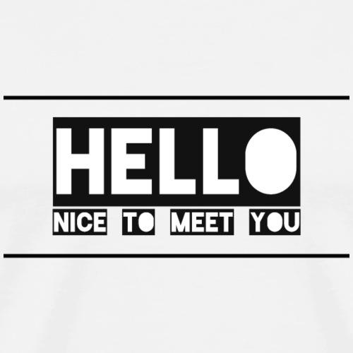 Freundliche Begrüßung für Veranstaltungen - Männer Premium T-Shirt