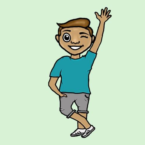 Justo Cartoon character! - Mannen Premium T-shirt