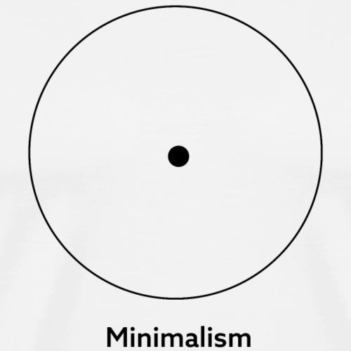 zen minimalism, minimalismus, minimal - Männer Premium T-Shirt