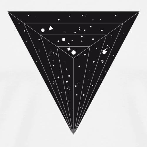 geometrische galaxie in dreieck - Männer Premium T-Shirt
