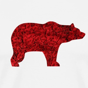BEAR AND ROSES - Men's Premium T-Shirt