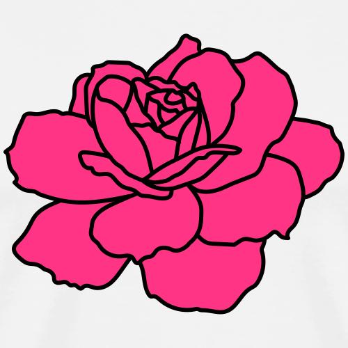 rose flower - Men's Premium T-Shirt