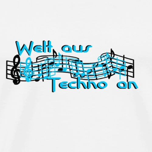 Welt aus Techno an Schriftzug - Männer Premium T-Shirt