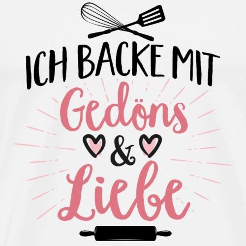 Backen mit Gedöns und Liebe weiß - Männer Premium T-Shirt