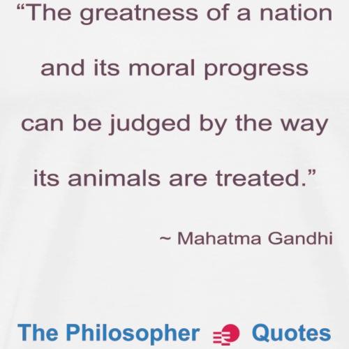 Gandhi Animals b - Mannen Premium T-shirt
