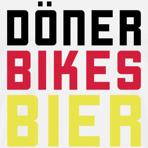 Döner Bikes Bier - Männer Premium T-Shirt