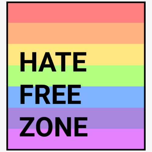 Hate Free Zone II Rainbow - Men's Premium T-Shirt