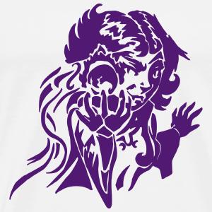 Gnome Mage avec RPG boule de feu Fantasy - vecteur - T-shirt Premium Homme