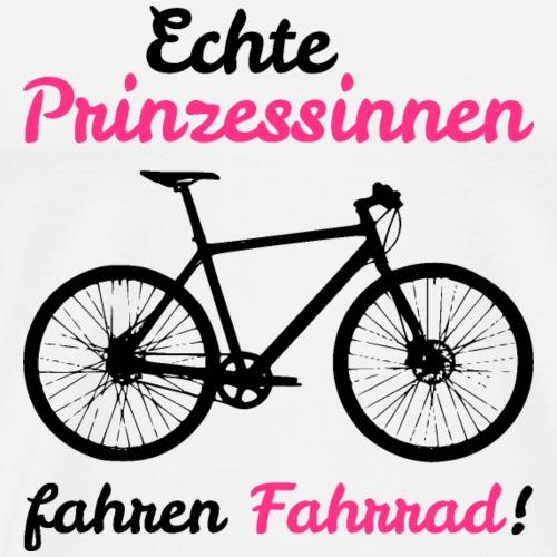 Echte Prinzessinnen fahren Fahrrad - Männer Premium T-Shirt