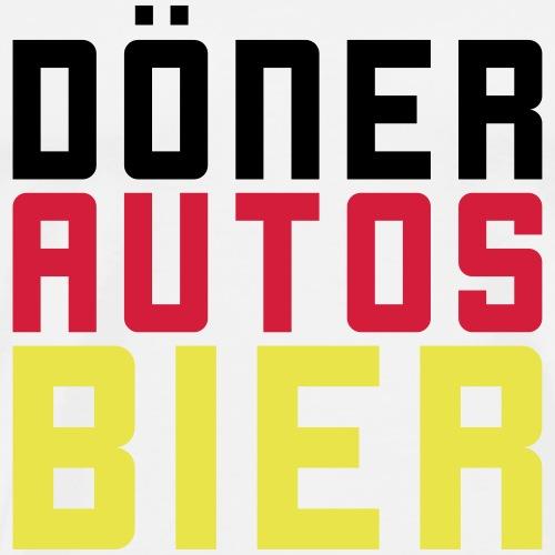 Döner Autos Bier - Männer Premium T-Shirt