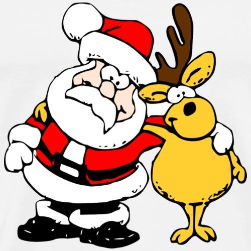 Weihnachtsmann Rentier - Männer Premium T-Shirt
