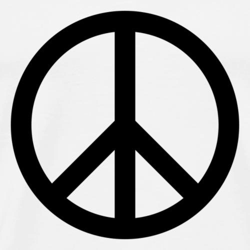 Peace Teken - Mannen Premium T-shirt