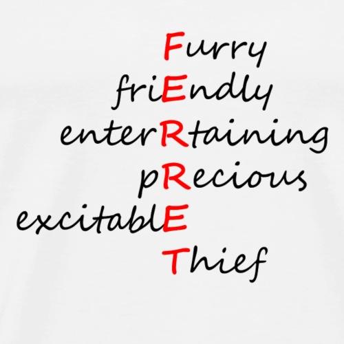 Ferret Acrostic - Men's Premium T-Shirt
