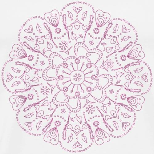 Mandala in lila, handgezeichnet - Männer Premium T-Shirt