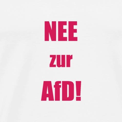 NEE zur AFD simpel rot - Männer Premium T-Shirt