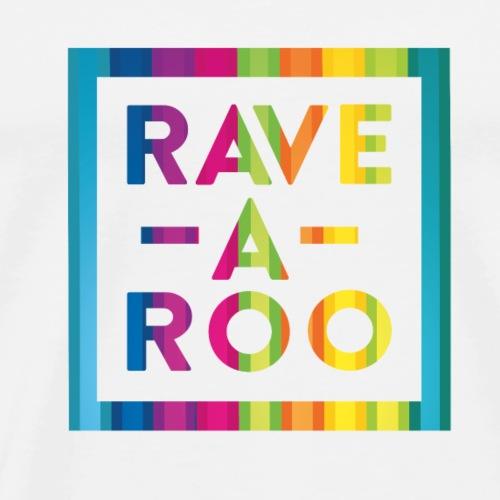Rave-A-Roo Rainbow Logo - Men's Premium T-Shirt