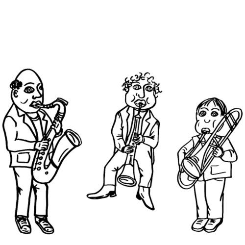 Jazzey Jazz, Mike Miller & Bobby Woodwind - Männer Premium T-Shirt