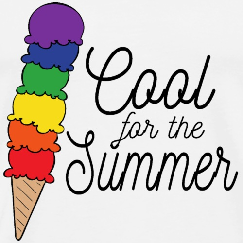 Cool für den Sommer | Eis | Regenbogen - Männer Premium T-Shirt