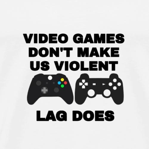 Gaming Zocken Spruch - Männer Premium T-Shirt