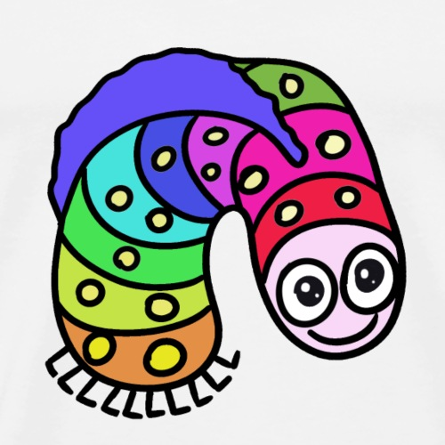b-fun-animal-worm zabawny robaczek - Men's Premium T-Shirt