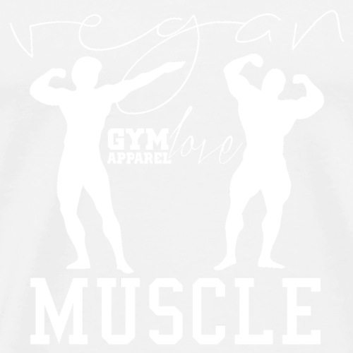 Vegan Muscle (White) - Männer Premium T-Shirt