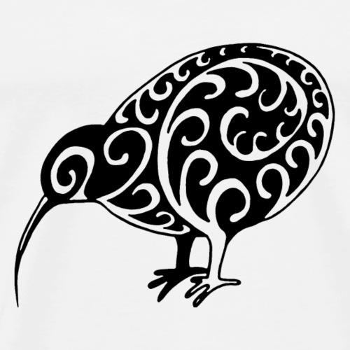Neuseeland: Kiwi in schwarz - Männer Premium T-Shirt