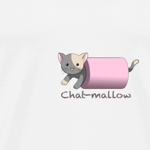 Chat-mallow - T-shirt Premium Homme