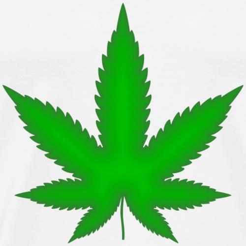 Cannabis Blatt - Männer Premium T-Shirt