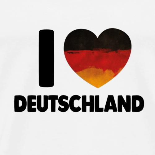 I Love Deustchland DE Flagge - Männer Premium T-Shirt