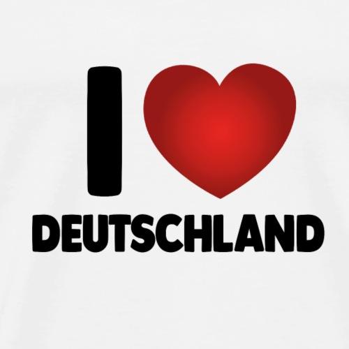 I Love Deustchland - Männer Premium T-Shirt