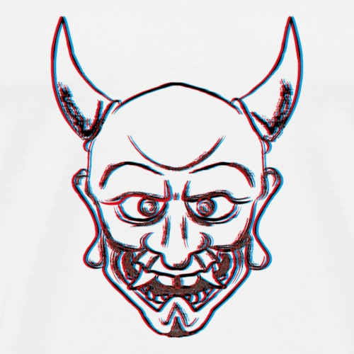 Oni Monster 3D - Männer Premium T-Shirt