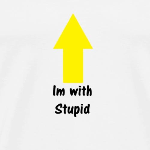 Im with Stupid - Men's Premium T-Shirt