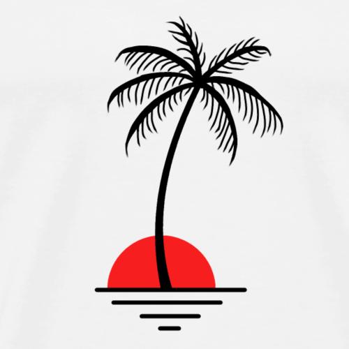 Palme mit Sonne / Geschenkidee / Geschenk - Männer Premium T-Shirt