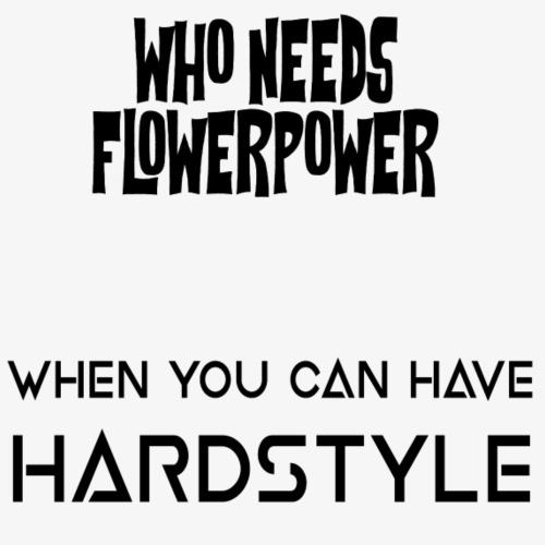 Flowers/Hardstyle - Männer Premium T-Shirt